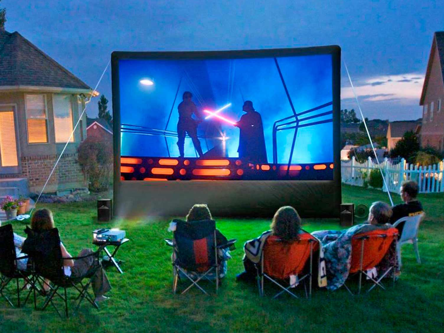 Inflatable outdoor cinema
