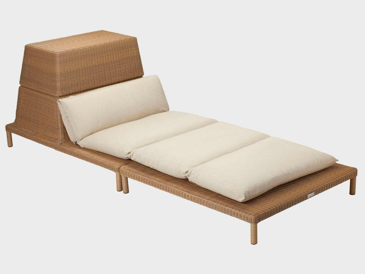 Sun lounger with storage compartment