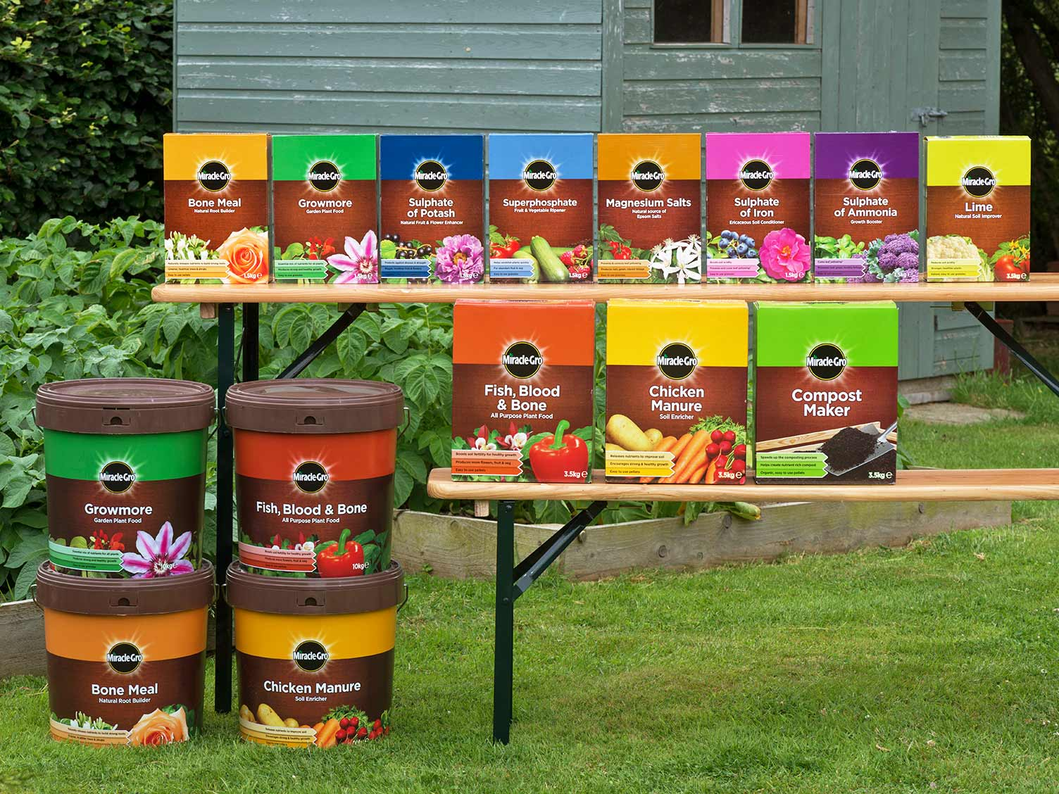 Miracle-Gro's straights range of products