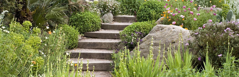 Un jardin en pente : agencer et aménager un jardin en pente