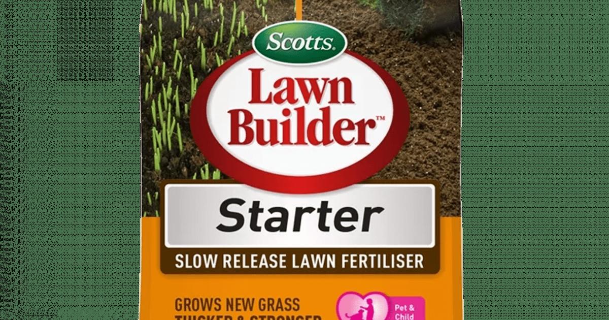 Scotts Lawn Builder Starter Slow Release Lawn Fertiliser 4kg 4kg Love The Garden