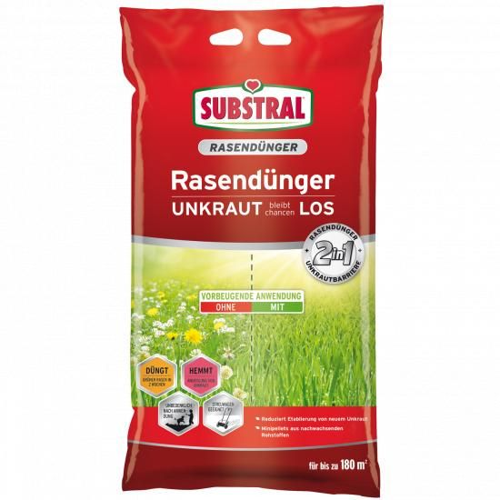 9,1 kg bis zu 180 qm nat/ürlich unkrautfreier Rasen Substral 2in1 Rasend/ünger Unkraut bleibt chancenLOS