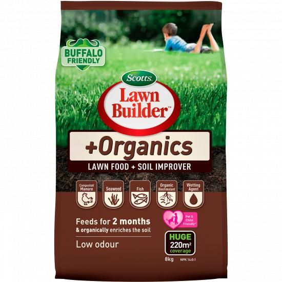 Scotts Lawn Builder Organics Lawn Food Soil Improver 8kg Love The Garden